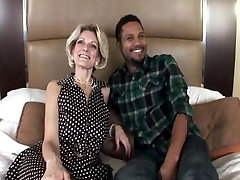 Real Amateur Mom in Interracial Video