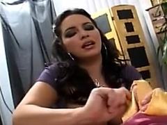 Femdom milf Silk Handjob - silk torture