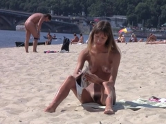 Amazing young nudists touch each others bodies