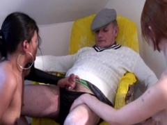 lesbian fun with voyeur papy