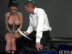 BDSM XXX Black haired subs get fucked by strict Masters