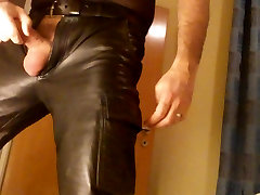 Cock in leather
