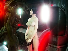 3D Space Girl Destroyed by Alien Creature!