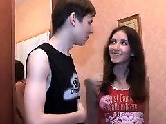 Russian Teen Sucks Cock