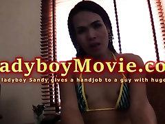 Big Ladyboy Sandy Handjob