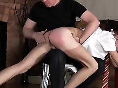 Gay boy twink bondage free video The men tender backside is