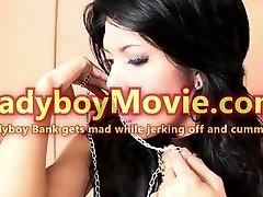Ladyboy Bank Mad Masturbation