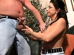 Busty German mature eager to suck and fuck a big cock