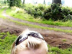 naughty-hotties.net - outside car quickie in the woods facia