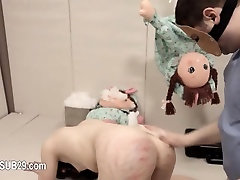 Extreme violently fucked bdsm babe with ropes