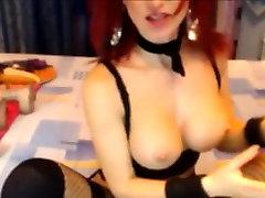 Amazing redhead fucks pussy with SexToy On Cam