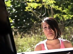 HelplessTeens Mena Mason outdoor fucking for hitchhiking