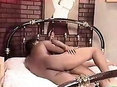Sexy Ebony MILF Enjoying His Big Cock