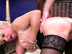 Big tit super grannt in black stockings