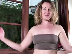 Striptease by hairy pussy Aussie amateur