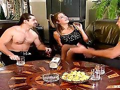 Skinny slut Katy takes Double Anal