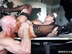 Big titted Peta Jensen banged across the boardroom table