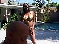 Big tits ebony banged hard