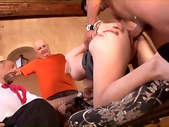 Hot married blonde babe gets on her knees and sucks a massive cock then fucks
