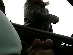 flashing in car 04