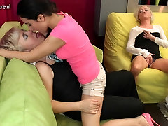 MOM fucks Grandma and young Lesbian girl