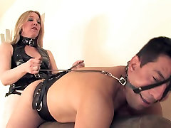 Tied for strapon mistress