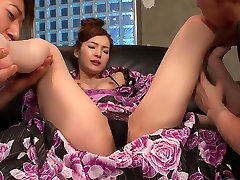 Steamy threesome with sexy slut and two hunks