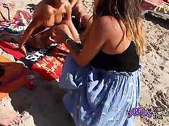 Topless Interview with three sexy Spanish Dancers big tits