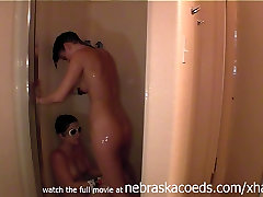catching two girls naked playing and licking eachother in