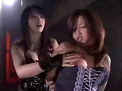 Natsuki in BDSM lesbian club