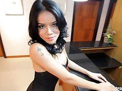 Sexy Asian Tgirl gets big cock