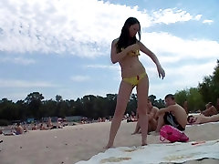 Nude teen friends expose themselves in the water