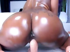 black booty riding dildo