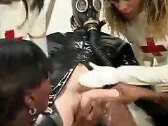 4 Ebony Nurses and 1 White Cock
