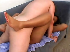 young ebony Persuasion with white dick