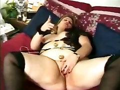 Large thick mature masturbates