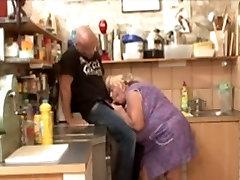 Big Tit BBW Granny Fucked In Kitchen