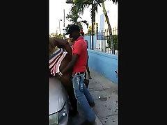 Ghetto bbw geeting fuck in public